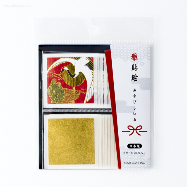 雅貼絵フレークシール 鶴亀(75291)【ネコポスOK】