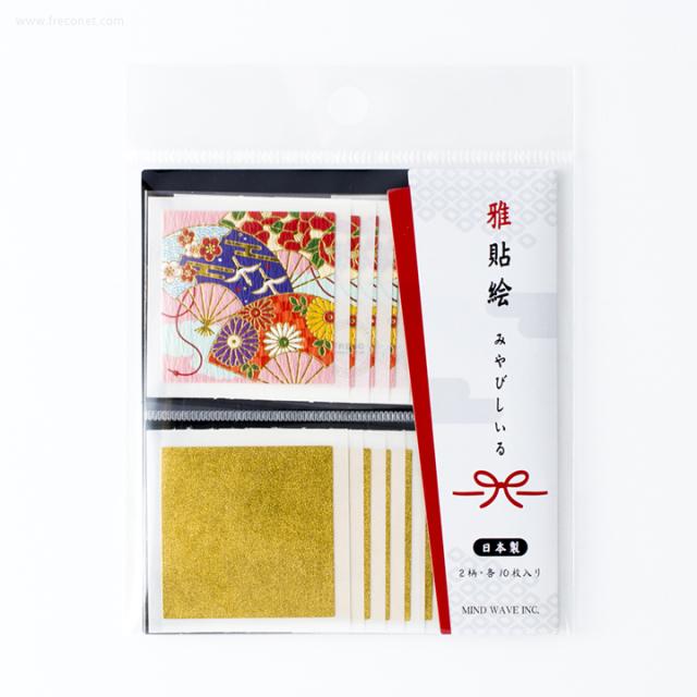 雅貼絵フレークシール 扇(75689)【ネコポスOK】