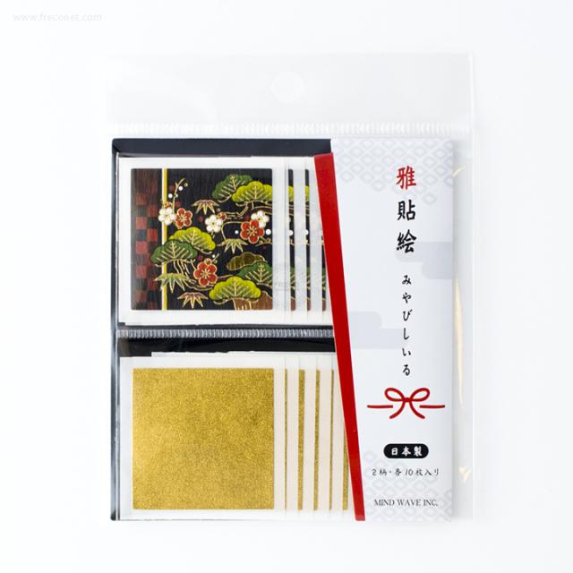 雅貼絵フレークシール 松竹梅(75690)【ネコポスOK】