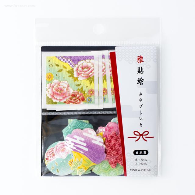 雅貼絵フレークシール 牡丹(75695)【ネコポスOK】