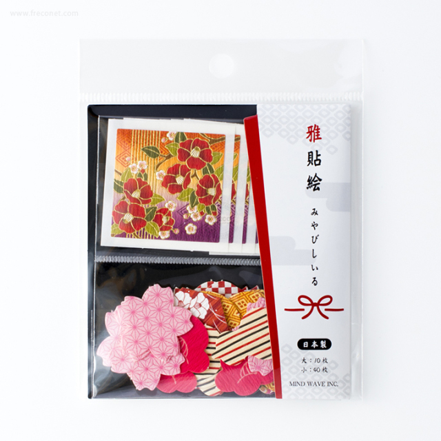 雅貼絵フレークシール 椿(75696)【ネコポスOK】