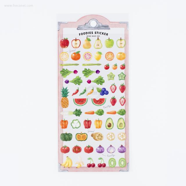 フーディーズステッカー 野菜とフルーツ(78898)【ネコポスOK】