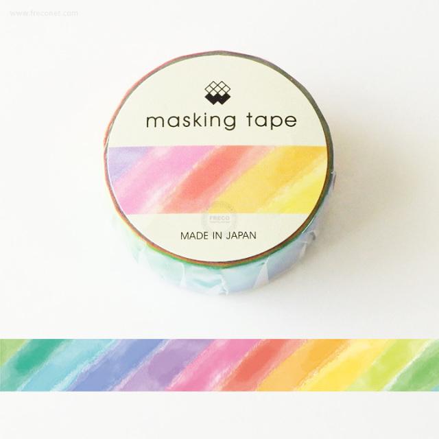 MWマスキングテープ すいさいレインボー(94179)【ネコポスOK】