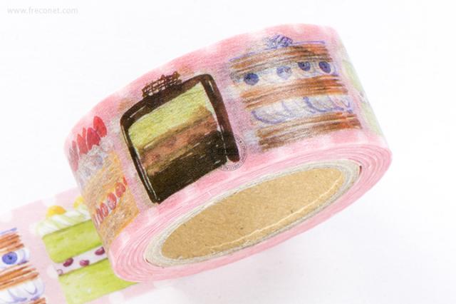 Oursマスキングテープ Cake1(001-H03)*日本製【ネコポスOK】