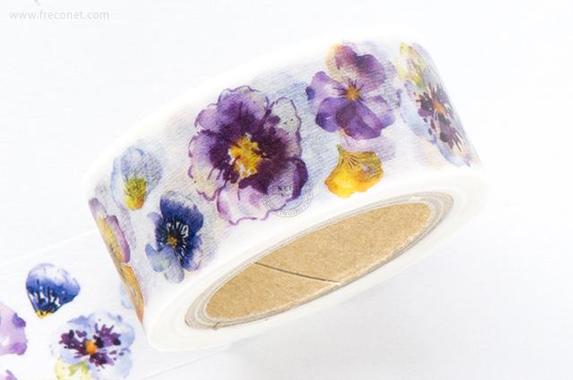 Oursマスキングテープ Flowers 2 (Sweet Violet)(005-H02)*日本製【ネコポスOK】