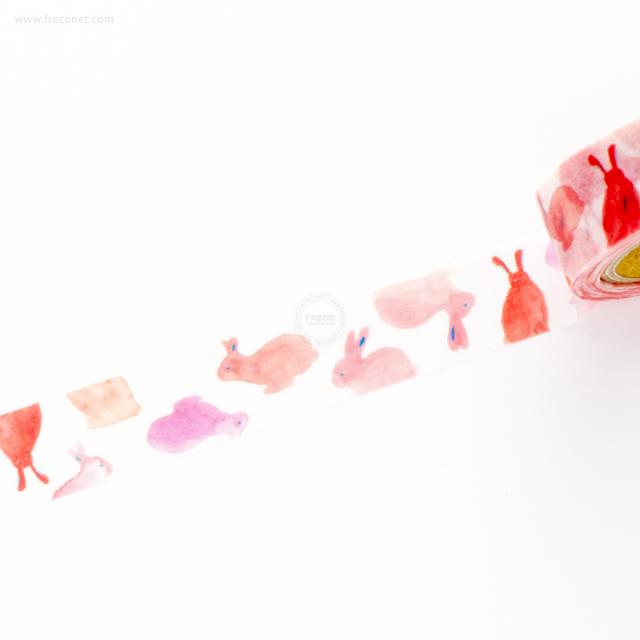 おいわいのしマスキングテープ うさぎ(OG-083)【ネコポスOK】