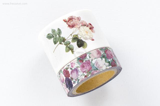 ルドゥーテマスキングテープ / バラ図譜 + チンツ(P016A-880)【宅急便配送】
