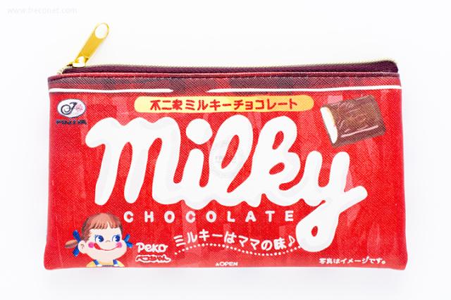 不二家フラットペンポーチ ミルキーチョコレート【ネコポスOK】