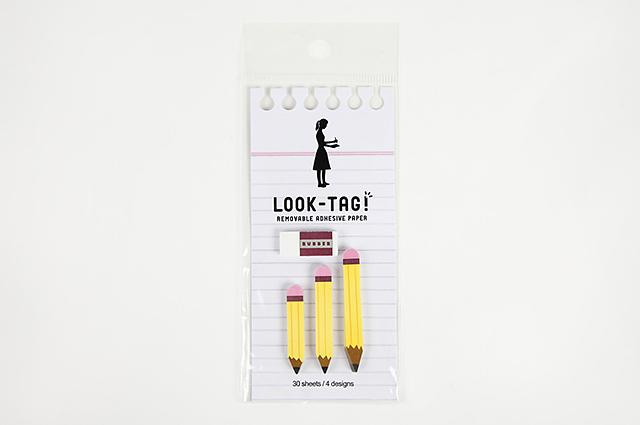 LOOK-TAG! ダイカット付箋 ペンシル(PFBS1080)【メール便OK】