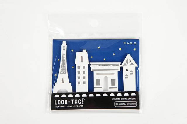 LOOK-TAG! ダイカット付箋 パリ(PFBS1100)【ネコポスOK】