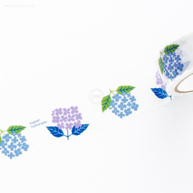 ヒュッテペーパーワークスマスキングテープ hydrangea WH(PMT-021)【ネコポスOK】
