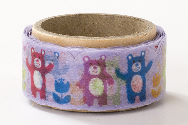 でこがたのマスキングテープ クマ(PN-1831-34-17)【ネコポスOK】