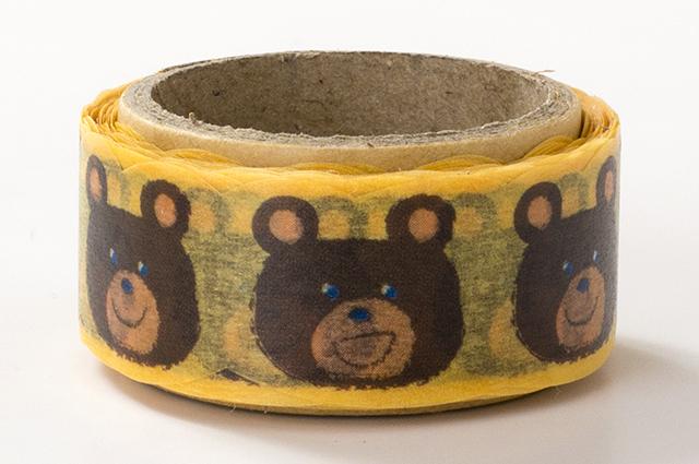 でこがたのマスキングテープ クマフェイス(PN-1831-34-20)【ネコポスOK】
