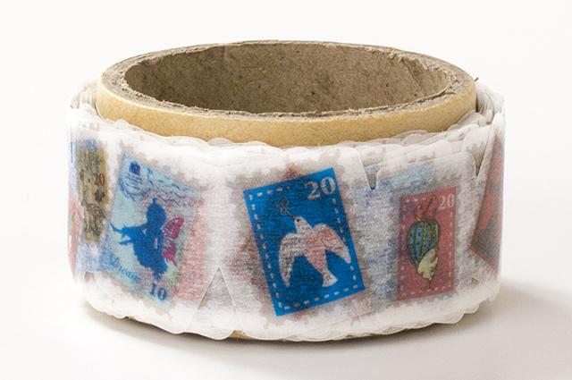 でこがたのマスキングテープ 切手(PN-1831-34-6)【ネコポスOK】