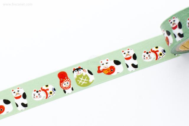 古川紙工マスキングテープ 和にゃんこ いろいろネコ(QMT13)【クロネコDM便OK】