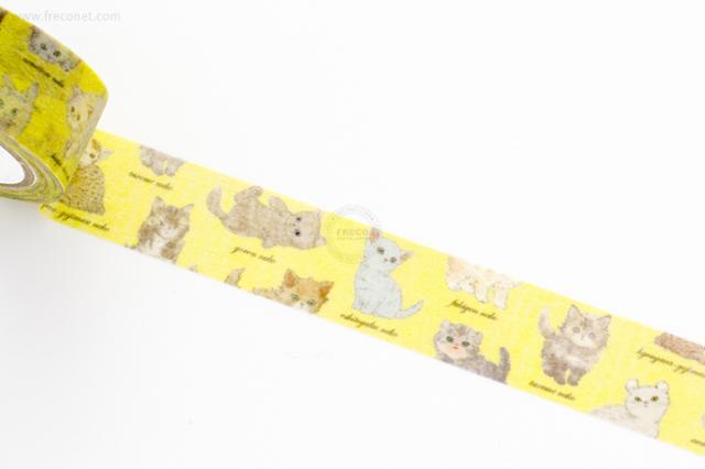 フランシュリッペマスキングテープ ねこ図鑑(R035-52)【クロネコDM便OK】