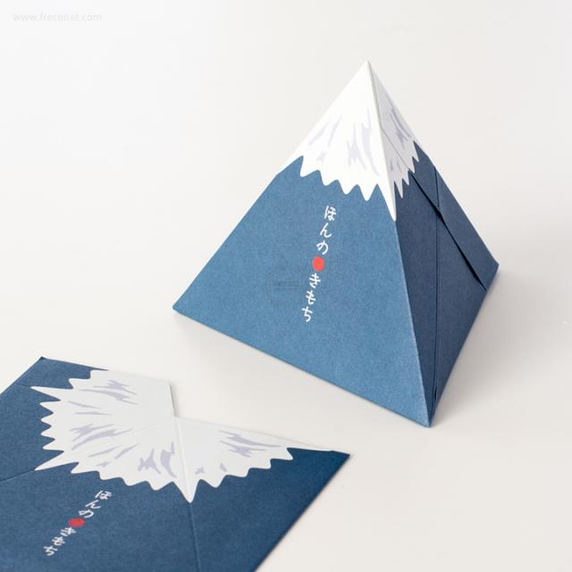 三角ぽち袋 富士山【ネコポスOK】