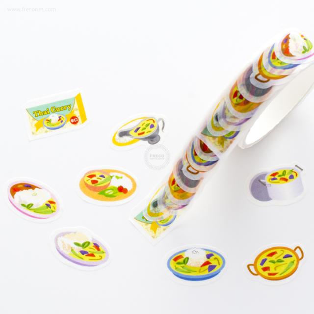 タイ風カレーマスキングテープ(72081401)【ネコポスOK】