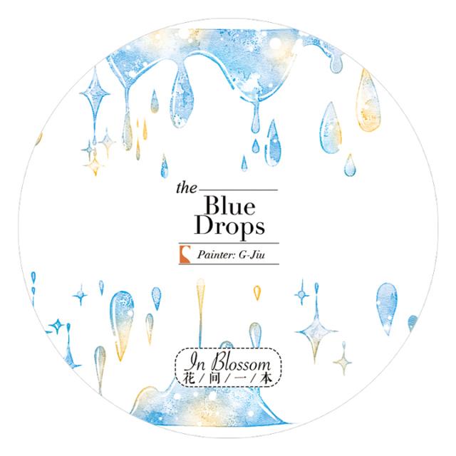《ご予約商品・12月入荷予定》花間一本マスキングテープ Blue Drops【ネコポスOK】
