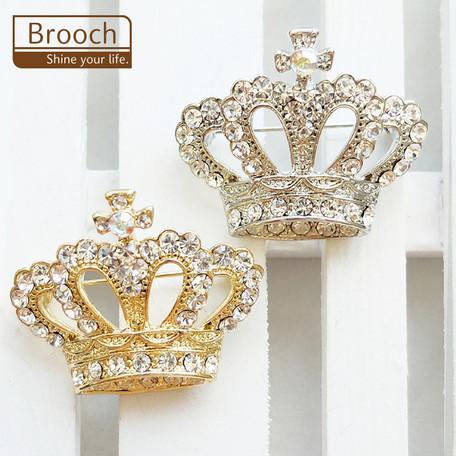 ブローチ 王冠【ネコポスOK】