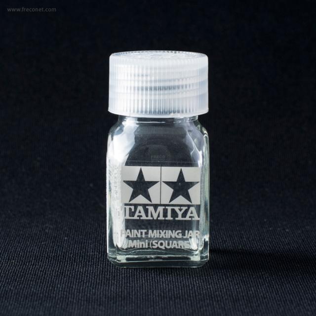 タミヤ スペアボトルミニ 角ビン 10cc(81043)【ネコポスOK】