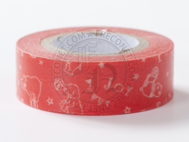 包むファクトリー マスキングテープ アニマルサーカス OR(M-0023)【ネコポスOK】