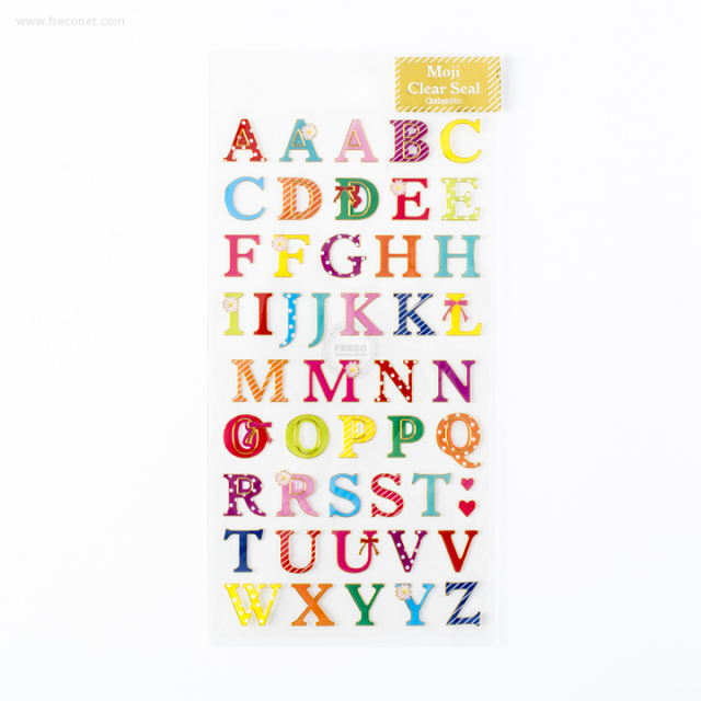 ふち金箔文字シール アルファベット(US-11698)【ネコポスOK】