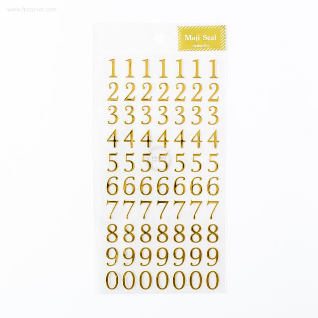 金箔文字シール 数字(US-13247)【ネコポスOK】
