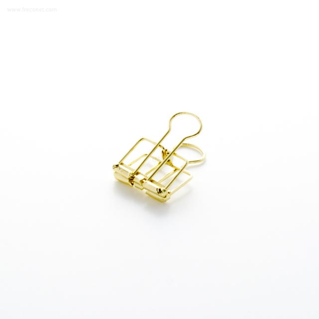 ワイヤーWクリップ ゴールド 小(WDC-3GD)【ネコポスOK】