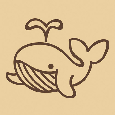 ウッドスタンプ アニマルシリーズ クジラ(WS-A-23)【宅急便配送】
