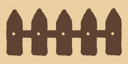 ウッドスタンプ アニマルシリーズ 柵(WS-C-08)【クロネコDM便OK】