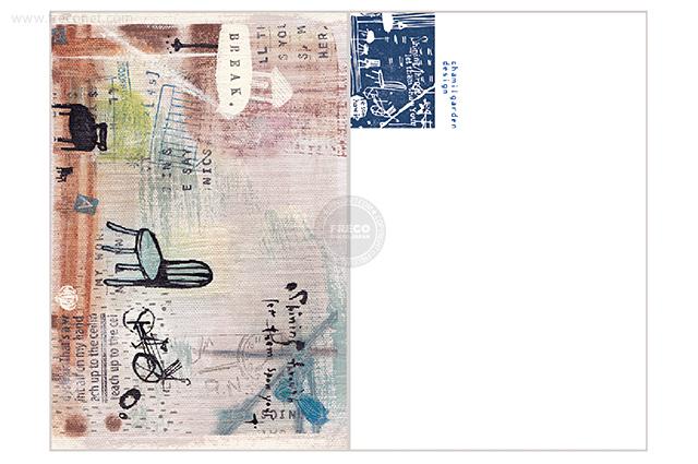 夏米花園ポストカード take a break(XM-PC-010)【ネコポスOK】