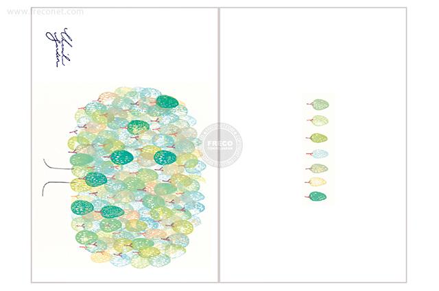 夏米花園ポストカード trees(XM-PC-014)【メール便OK】