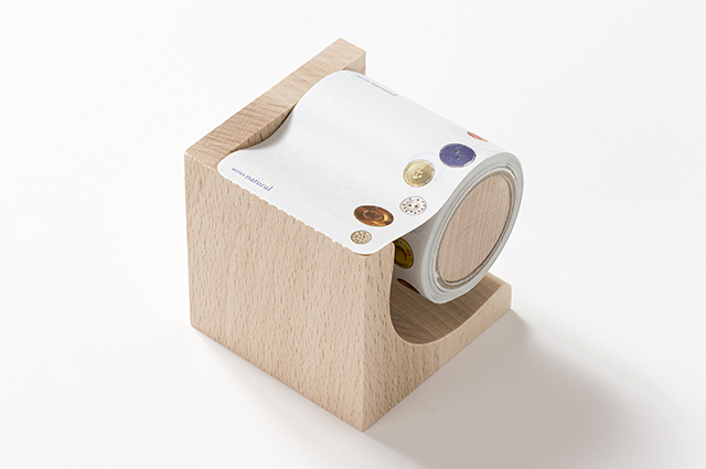 yano design型抜きロールふせん(木製台付き)Button [YD-RF-004]【宅急便配送】
