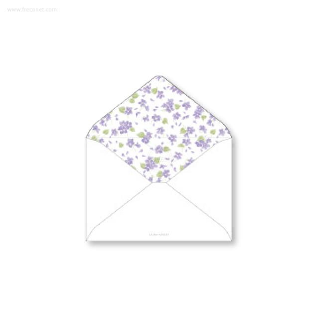 ローラ・アシュレイ 洋2封筒 バイオレット(ヨ-LA51)【ネコポスOK】