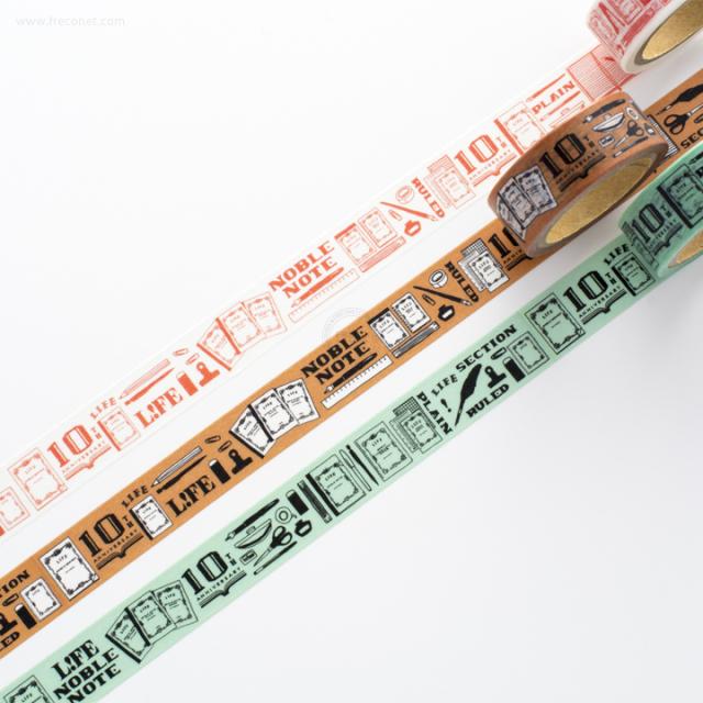 LIFE ノーブル10th限定マスキングテープおまとめパック(ZE007~009)【ネコポスOK】