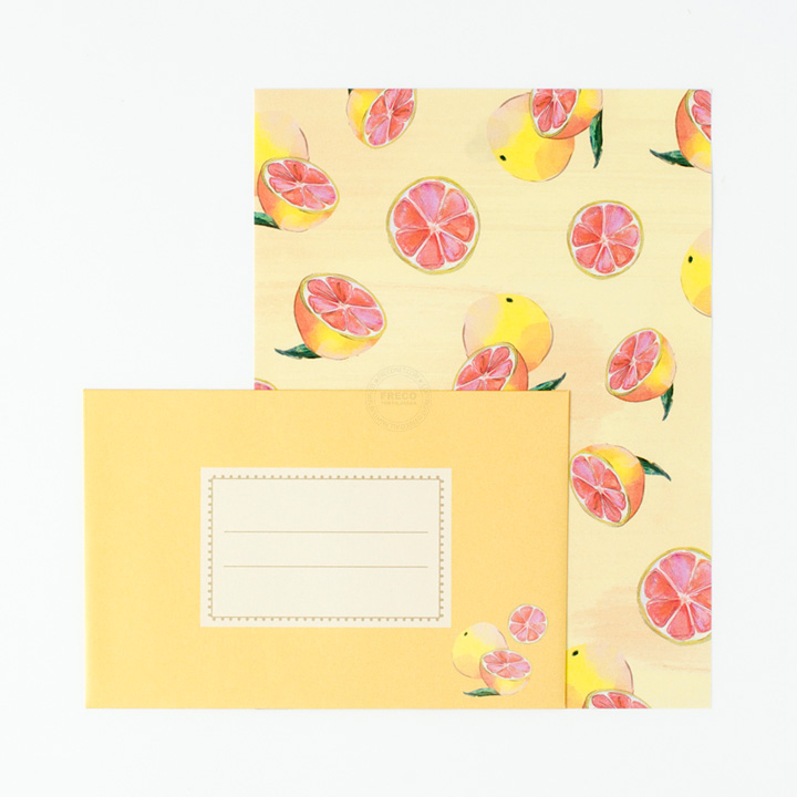 ルアナレターセット ピンクグレープフルーツ(LNLS01-YE)【ネコポスOK】