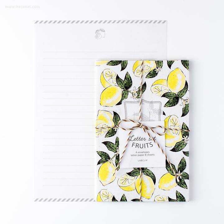 フルーツレターセット レモン(LTST04-LM)【ネコポスOK】
