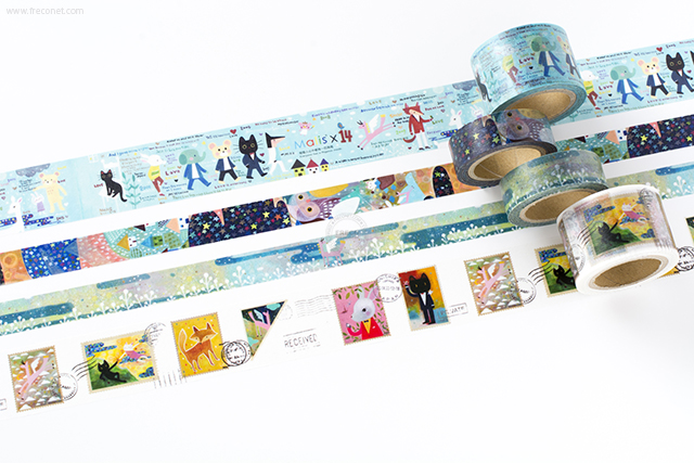 小徑文化×馬里斯マスキングテープおまとめパック(MTW-MA001~004)*日本製【宅急便配送】