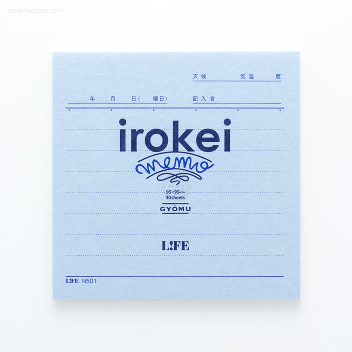 LIFE いろけいメモ 業務(N501)【ネコポスOK】