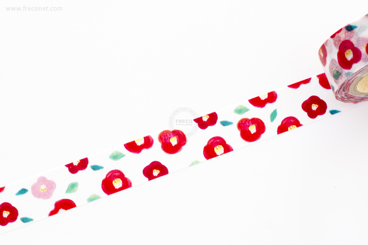おいわいのしマスキングテープ 椿(OG-047)【ネコポスOK】