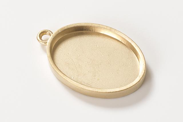 楕円型ミール皿 ゴールド(RSP-75PG)【ネコポスOK】
