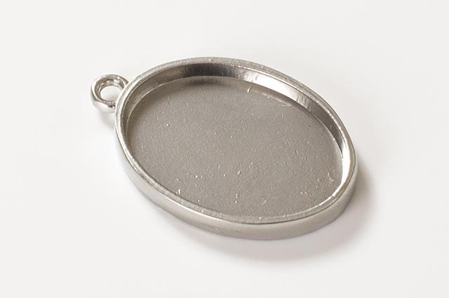 楕円型ミール皿 シルバー(RSP-75PS)【ネコポスOK】