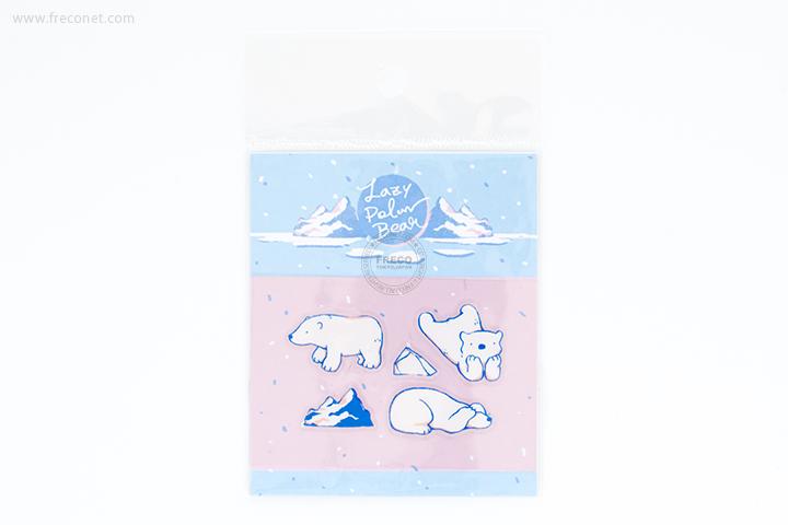 OURS 透明シール Lazy Polar Bear #2(S01_K02)【ネコポスOK】