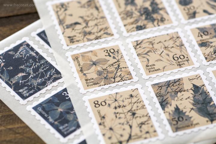 OURS 森林好朋友 切手型封緘シール アンティーク【ネコポスOK】