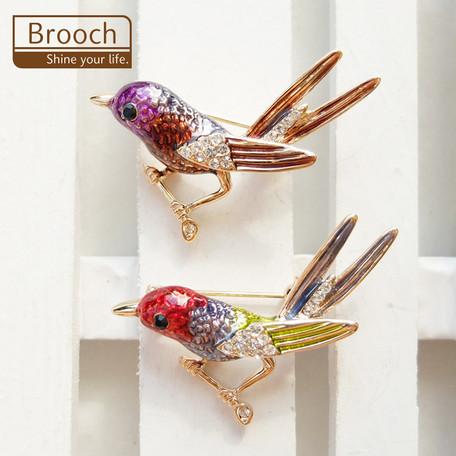 ブローチ 小鳥【ネコポスOK】
