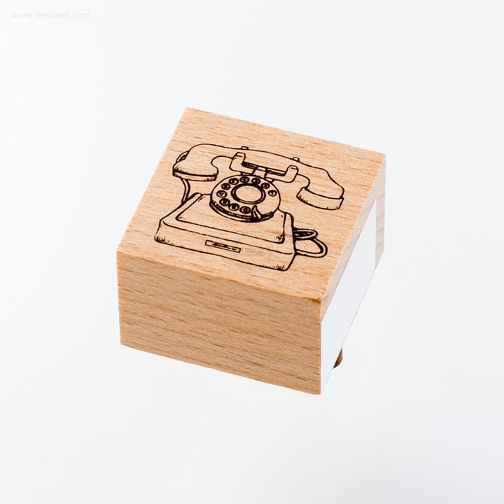 ウッドスタンプ アンティークシリーズ アンティーク電話(WS-A-04)【ネコポスOK】