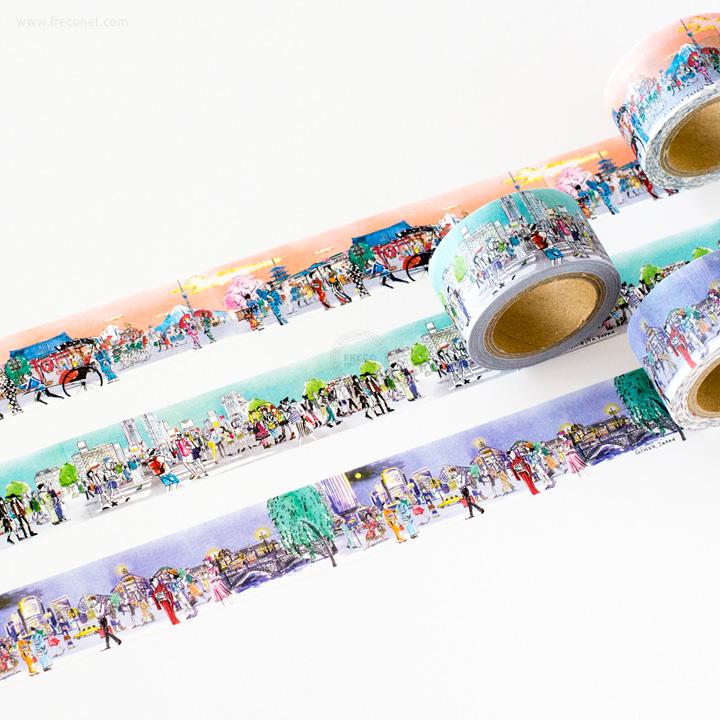 ペパラブル ジャパントーキョー まち歩きマスキングテープおまとめパック(YKP90-4407・4414・4421)【ネコポスOK】