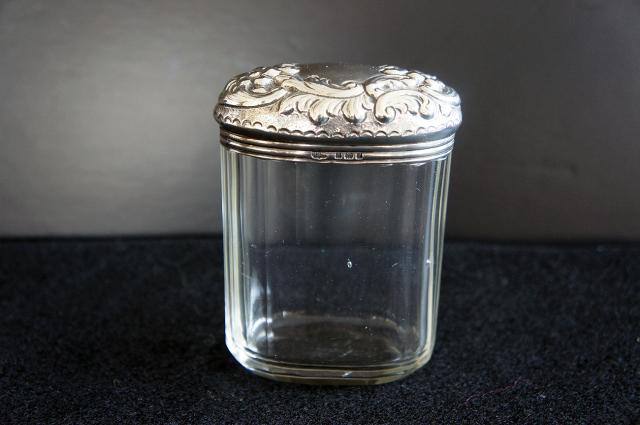 シルバーxガラス コスメティックジャー