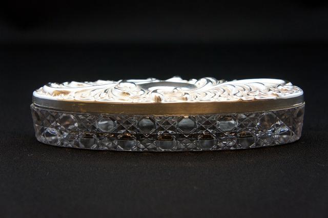 シルバープレートXガラス ジュエリーケース